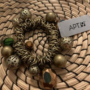 APT 9 Stretch Bracelet Copper & Antique Gold